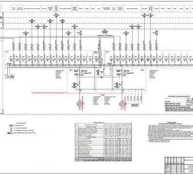 Пример проекта электрики Торгового Комплекса Барвиха - лист 01