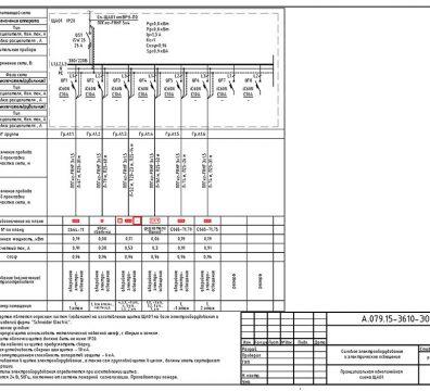 Пример проекта электрики Торгового Комплекса Барвиха - лист 08