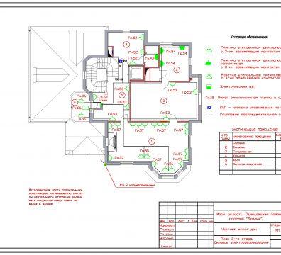 Пример проектирования электроснабжения частного дома в поселке Довиль - лист 10
