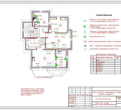 Пример проектирования электроснабжения частного дома в поселке Довиль - лист 11