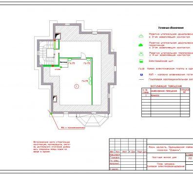 Пример проектирования электроснабжения частного дома в поселке Довиль - лист 12