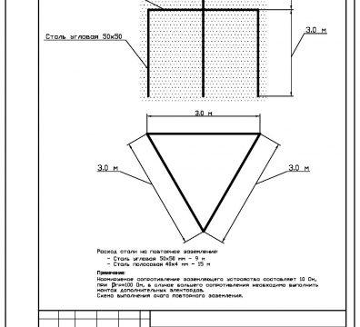 Пример проектирования электроснабжения частного дома в поселке Довиль - лист 03