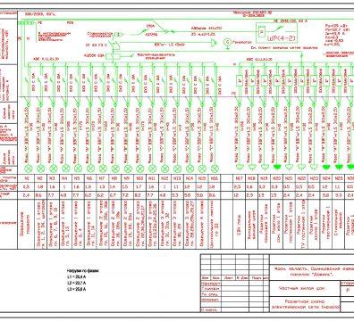 Пример проектирования электроснабжения частного дома в поселке Довиль - лист 05
