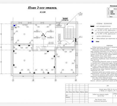 Пример проекта электроснабжения музея Вознесенского - лист 14