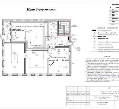 Пример проекта электроснабжения музея Вознесенского - лист 16