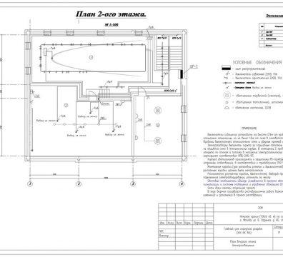 Пример проекта электроснабжения музея Вознесенского - лист 17