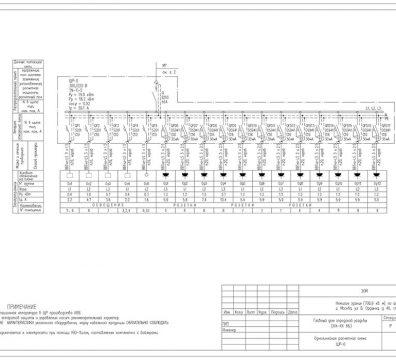 Пример проекта электроснабжения музея Вознесенского - лист 03