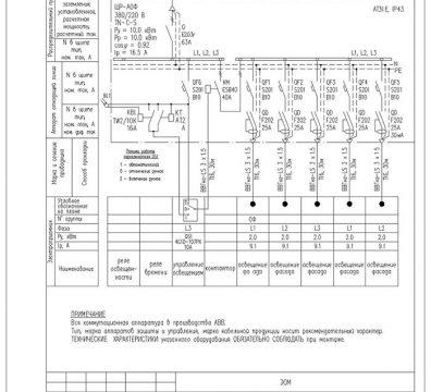 Пример проекта электроснабжения музея Вознесенского - лист 08