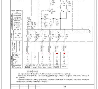 Пример проекта электроснабжения музея Вознесенского - лист 09