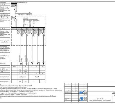 Пример проектирования электроснабжения в офисе - лист 07